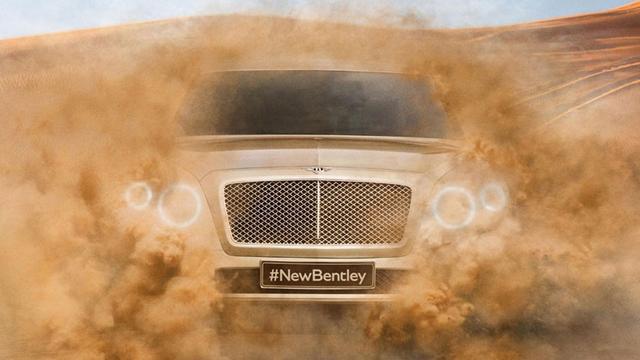 Bentley laat voorkant nieuwe SUV zien