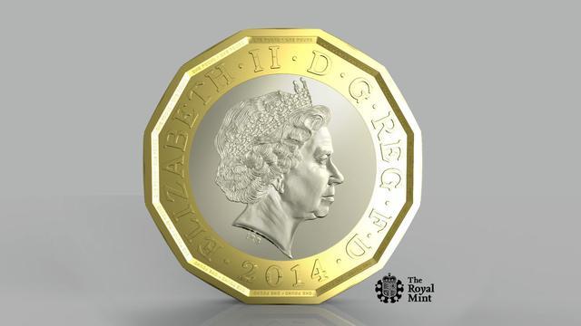 'Nieuw ontwerp Britse pond wegens Nederlandse valsemunters'