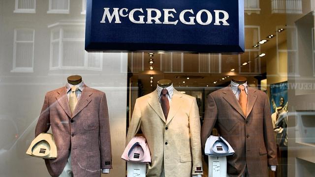 Modehuis McGregor vraagt faillissement aan