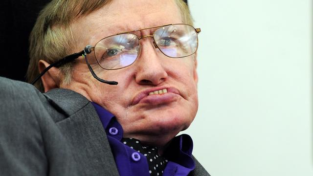 Glastonbury strikt wetenschapper Stephen Hawking