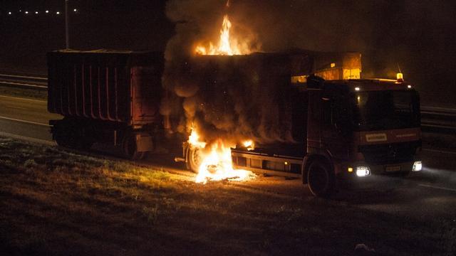 A58 bij Etten-Leur afgezet wegens brand