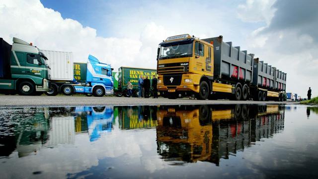 Vrachtwagenchauffeurs weer in actie