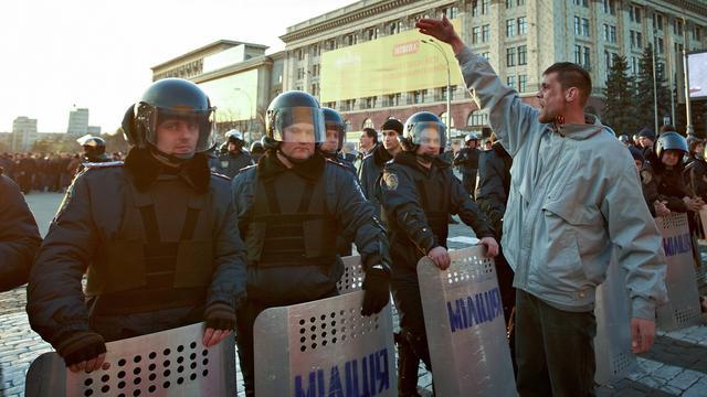 Botsingen met pro-Russische betogers Oekraïne