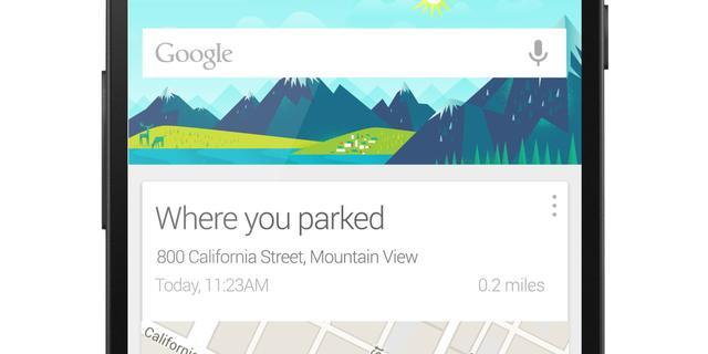 'Google Now gaat locatie geparkeerde auto onthouden'