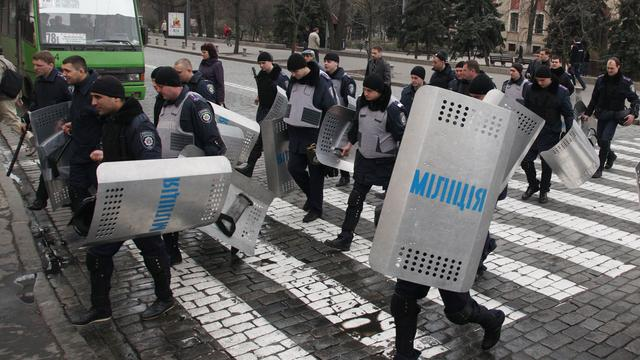 Gewonden door botsingen tussen betogers in Charkov