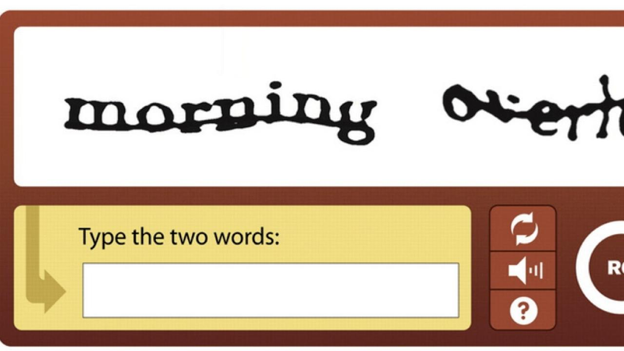 Google comes with captcha robot test that requires no action