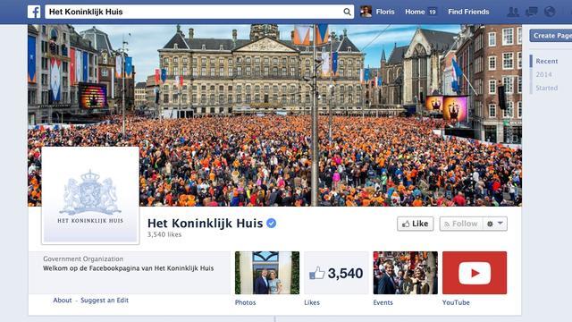 Koningshuis lanceert Facebook-pagina