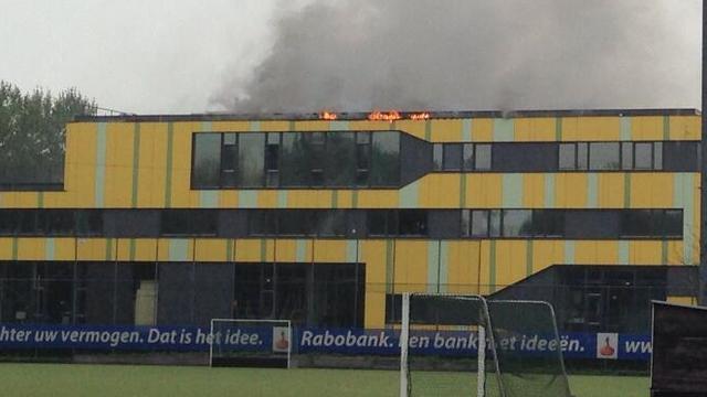 Grote brand in schoolgebouw Purmerend