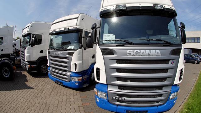'Recordboetes voor Europese truckfabrikanten'