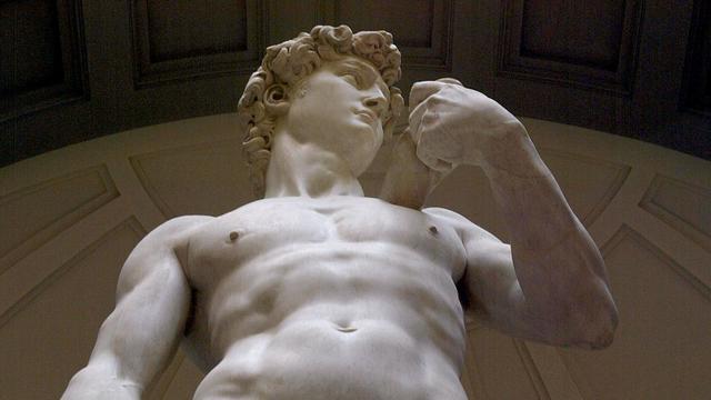 David van Michelangelo dreigt in te storten