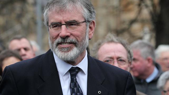 Noord-Ierse politicus Gerry Adams stapt op als leider van Sinn Fein