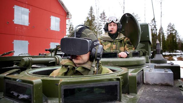 Noors leger gebruikt Oculus Rift-bril om tank te besturen
