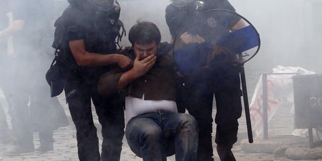 Opnieuw geweld bij Turks protest
