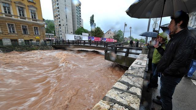 Doden in Bosnië en Servië door overstromingen