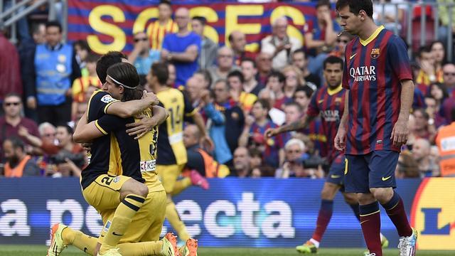 Atletico Madrid kampioen na gelijkspel tegen FC Barcelona