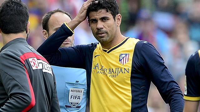 Diego Costa hervat training bij Atletico Madrid