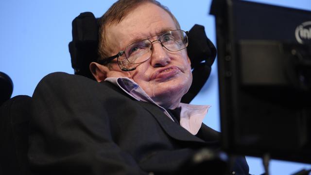 As Stephen Hawking wordt bijgezet in Westminster Abbey