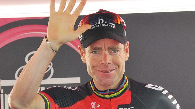 Evans maakt tijd goed op Uran in veertiende etappe Giro d'Italia