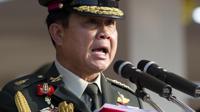 'Thaise koning erkent legerleider als hoofd militaire raad'