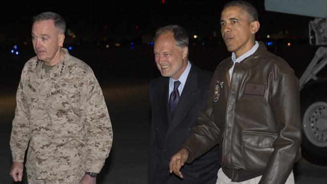 Obama bezoekt Amerikaanse troepen Afghanistan
