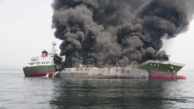 Explosie op olietanker voor de kust van Japan