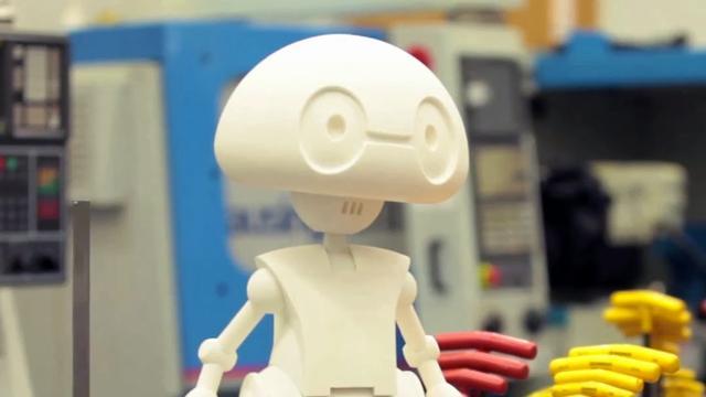 Intel's 3d-geprinte robot in 2014 te koop voor ruim 1000 euro