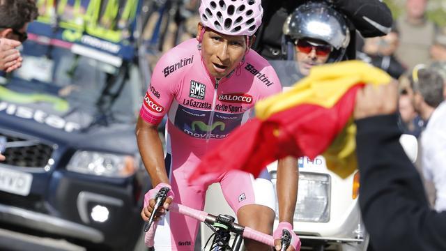 Quintana wint tijdrit en verstevigt leidende positie in Giro
