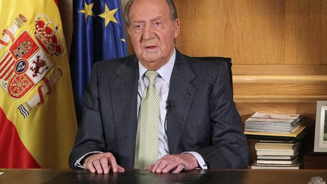 Spaanse koning Juan Carlos doet afstand van troon