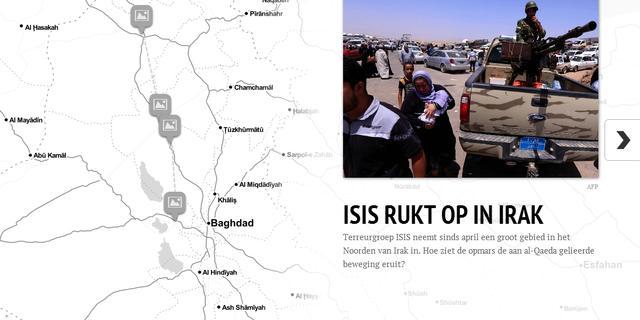 Overzicht: Opmars van ISIS in Irak
