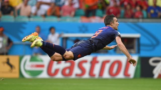 Hét WK-beeld: De kopbal van Van Persie tegen Spanje