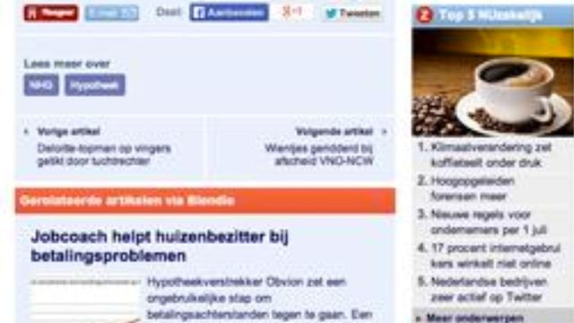NU.nl start samenwerking met Blendle
