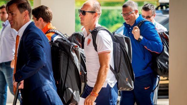 Nederlands elftal aangekomen in Salvador