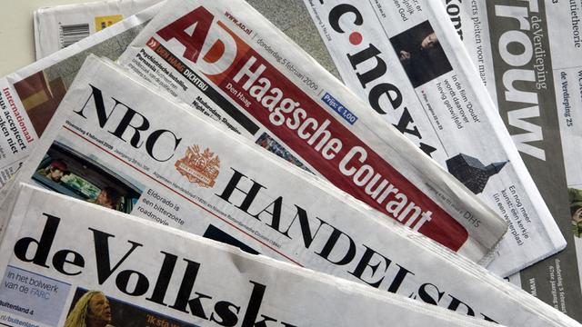 Oplage dagbladen verder omlaag