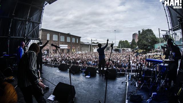 Mac Miller en A$AP Ferg treden op tijdens Woo Hah!