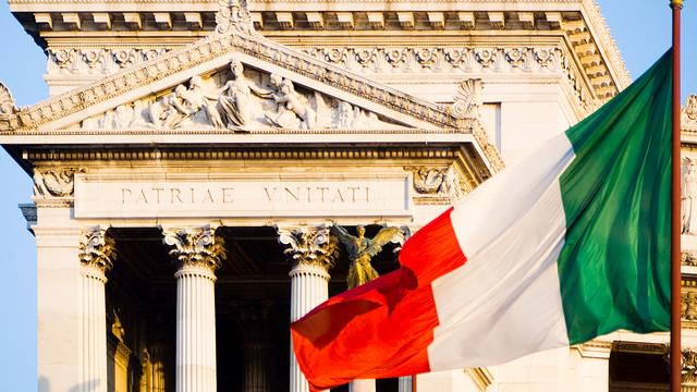 Gekozen Senaat Italië schaft zichzelf af