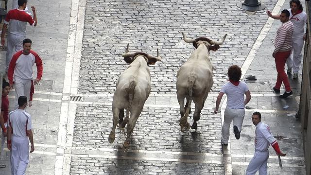 Vier gewonden op eerste dag stierenrennen Pamplona