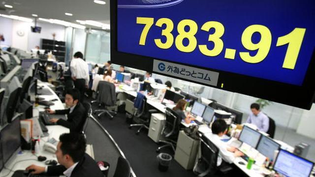 Nikkei sluit in de min