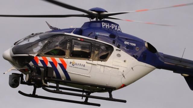 Weer politiehelikopter met laser beschenen