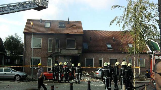 Gewonden door explosie in woning Krommenie