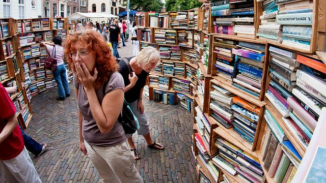 Boekenbeurs in Peking kleurt oranje