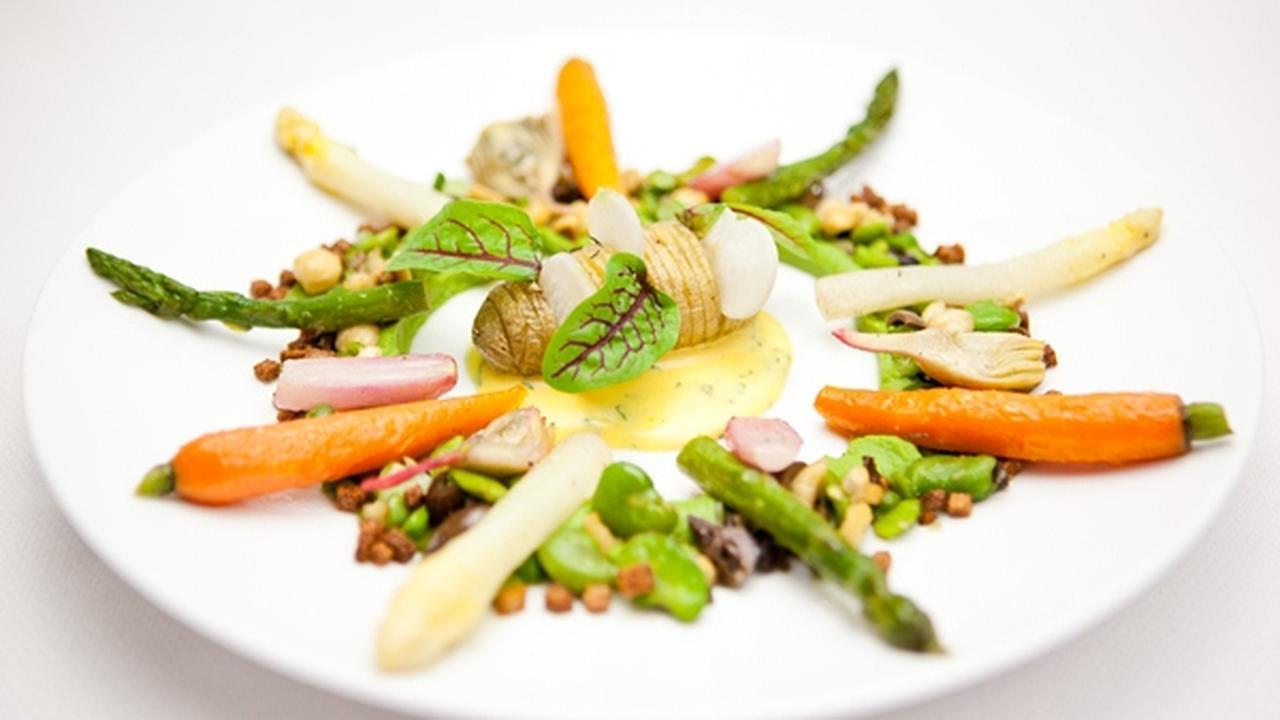 restaurant met vegetarische gerechten