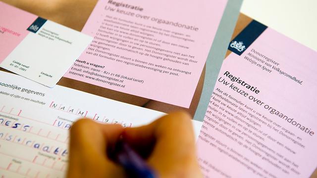 Kamer verdeeld over D66-plan donorregistratie