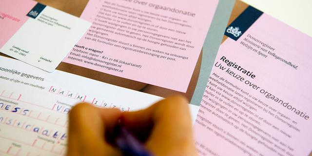 Referendum over donorwet stap dichterbij