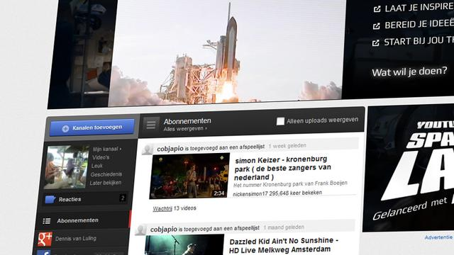 Lay-out Youtube op de schop
