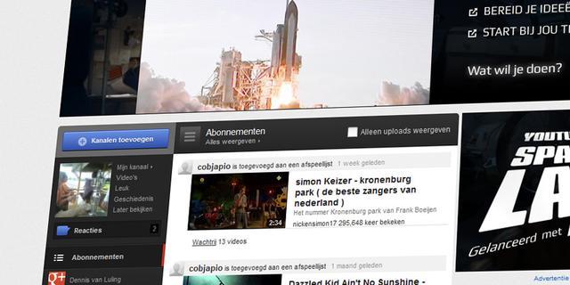 Google test nieuw design Youtube