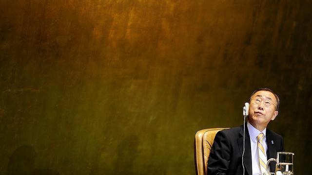 Ban Ki-moon bekogeld in Gaza