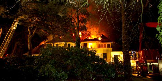 Grote brand in vrijstaande villa Aerdenhout