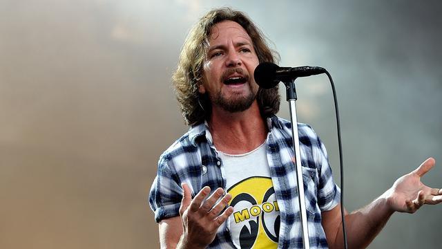 Pearl Jam-frontman Eddie Vedder naar Amsterdam