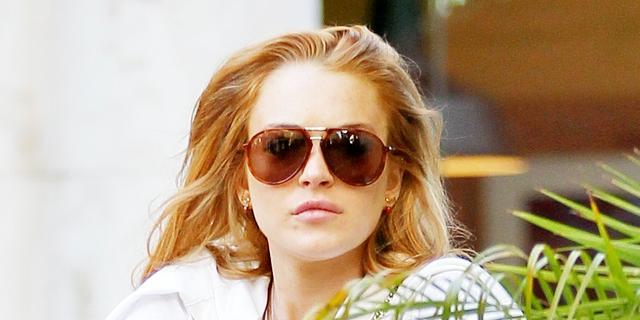 'Lindsay Lohan rijdt door na aanrijding'