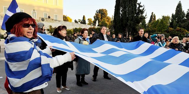 'EU en IMF voorzichtig over Griekse schuld'